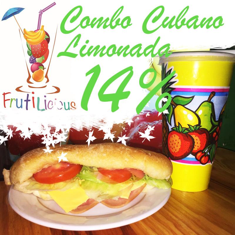 Delicioso cubano con refrescante bebida